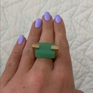 Marc by Marc Jacobs Mint Green Statement Ring
